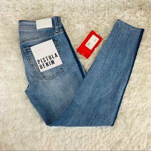 Pistola Denim Audrey MidRise Skinny Raw Hem Jeans